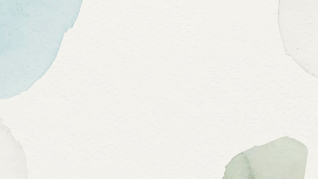 Blauwe en groene aquarel patroon achtergrond sjabloon vector