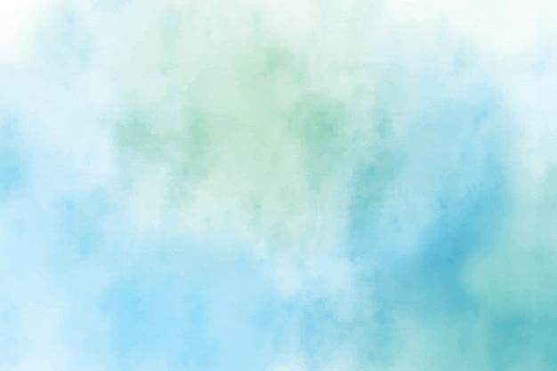 Blauwe en groene aquarel
