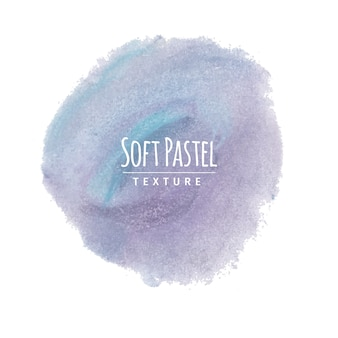 Blauwe en lavendel zachte pastelkrijttekening
