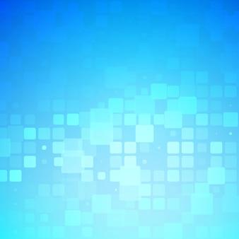 Blauwe en lichte turkooise gloeiende afgeronde tegelsachtergrond