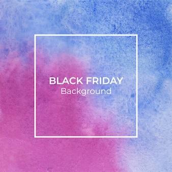 Blauwe en magenta blackfriday aquarel abstracte achtergrond