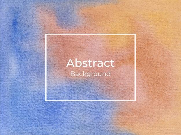 Blauwe en oranje abstracte luxe aquarel achtergrond