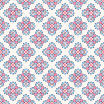 Blauwe en roze bloemblaadjes