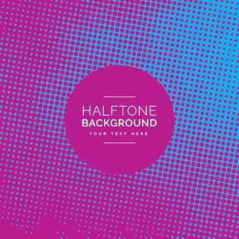 Blauwe en roze halftone achtergrond ontwerp