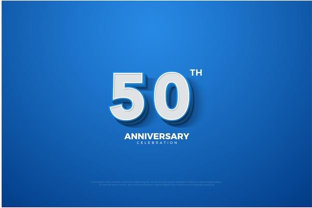 Blauwe en witte achtergrond van de verjaardag