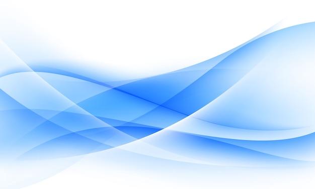 Blauwe en witte golfachtergrond zachte achtergrond