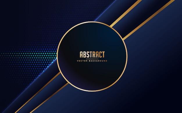 Blauwe en zwarte abstracte achtergrond