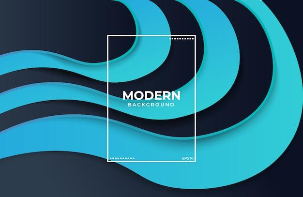 Blauwe en zwarte abstracte vloeibare vormachtergrond