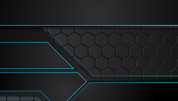 Blauwe en zwarte abstracte zakelijke achtergrond