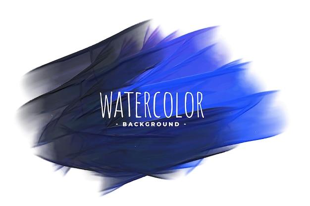 Blauwe en zwarte aquarel grunge textuur achtergrond