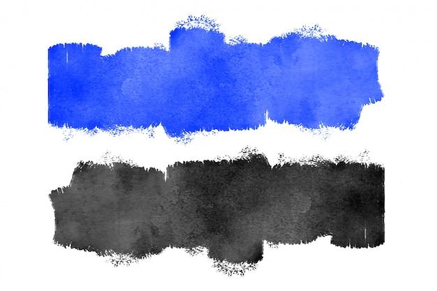 Blauwe en zwarte aquarel textuur