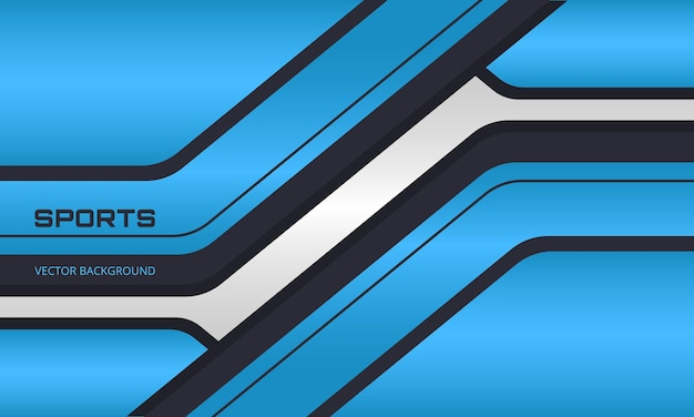 Blauwe en zwarte sportachtergrond met abstracte vormen