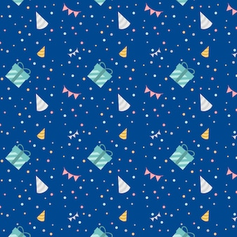 Blauwe feestelijke verjaardag ontwerp vector