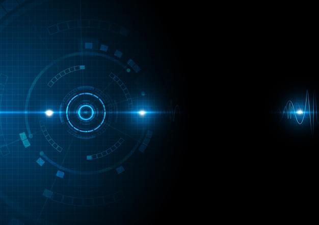 Blauwe futuristische digitale datatechnologie