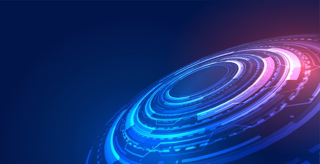 Blauwe futuristische technologie concept achtergrond met digitaal diagram