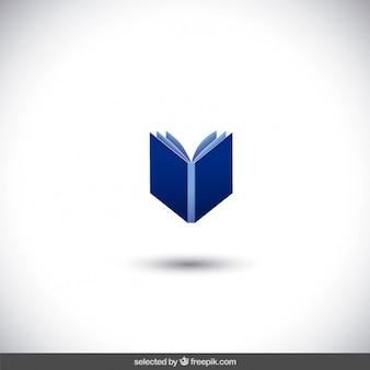 Blauwe geïsoleerde boek