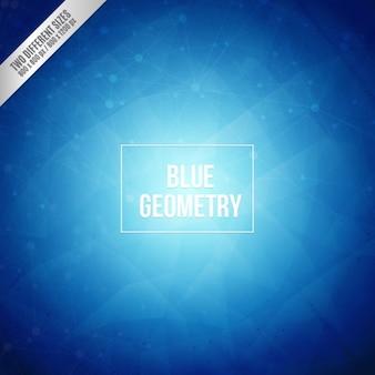Blauwe geometrie achtergrond