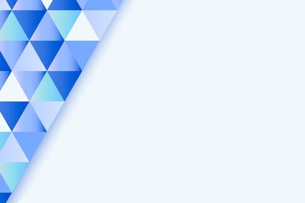 Blauwe geometrische achtergrond
