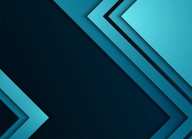 Blauwe geometrische en overlappende laag op blauwe achtergrond