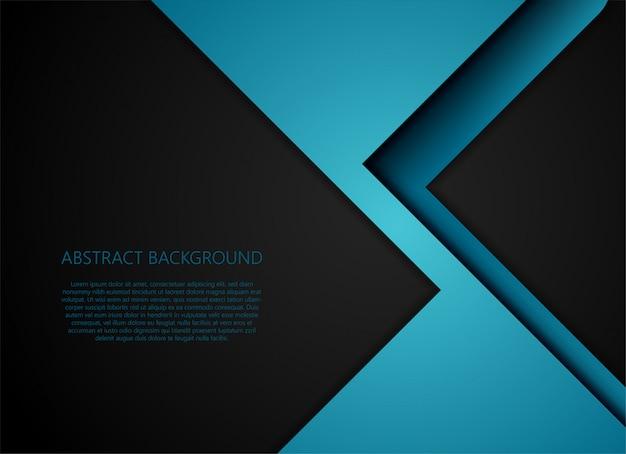 Blauwe geometrische en overlappingslaag op grijze achtergrond