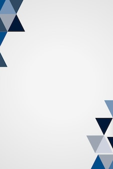 Blauwe geometrische frame vector