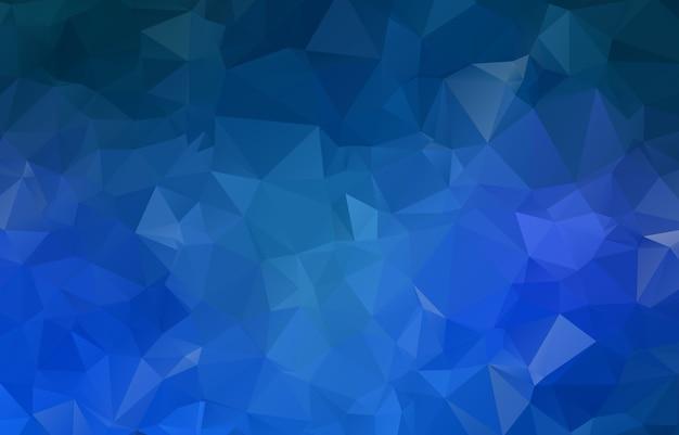 Blauwe geometrische verkreukelde driehoekige laag poly origami stijl illustratie grafische achtergrond van de gradiëntillustratie.
