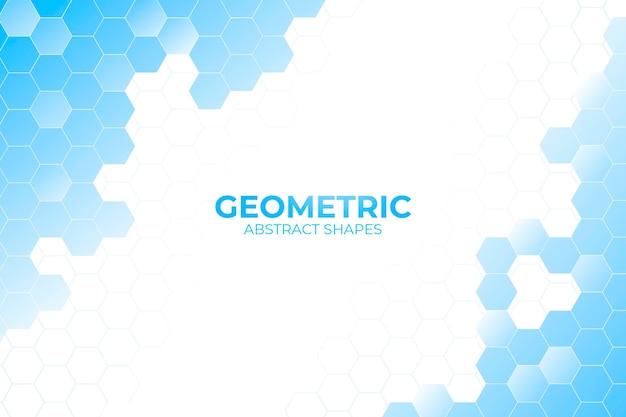 Blauwe geometrische vormen achtergrond