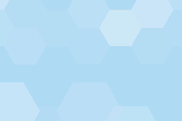 Blauwe geometrische zeshoek patroon achtergrond