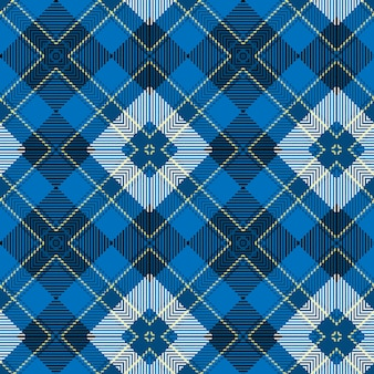 Blauwe geweven schotse tartan patroon achtergrond