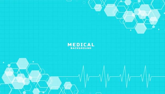 Blauwe gezondheidszorg en medische wetenschap achtergrond