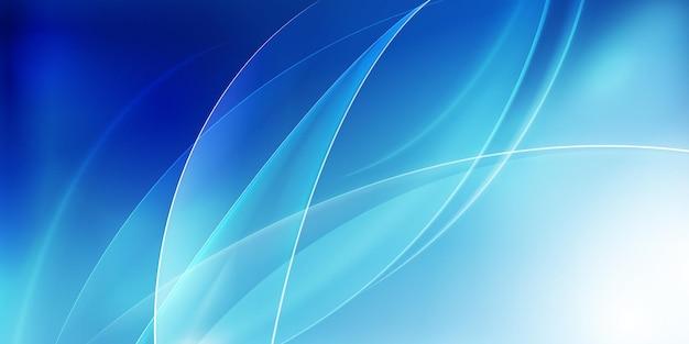 Blauwe gladde golvende achtergrond