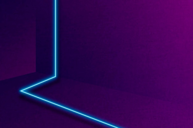 Blauwe gloeiende lijn op paarse achtergrond