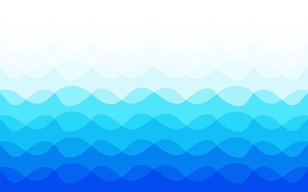 Blauwe golf abstracte achtergrond