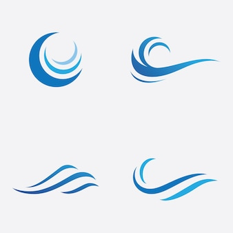 Blauwe golf logo vector. watergolf illustratie sjabloonontwerp
