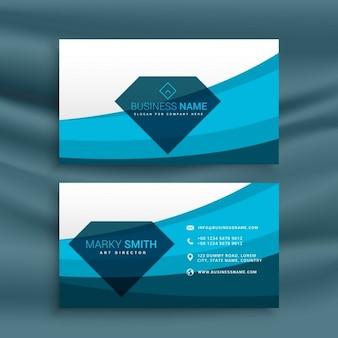 Blauwe golf ontwerp van de adreskaartjesjabloon met diamantvorm