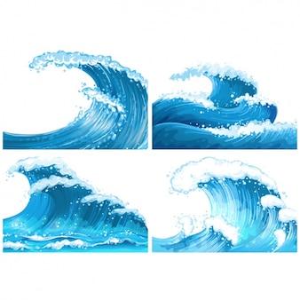 Blauwe golven collectie