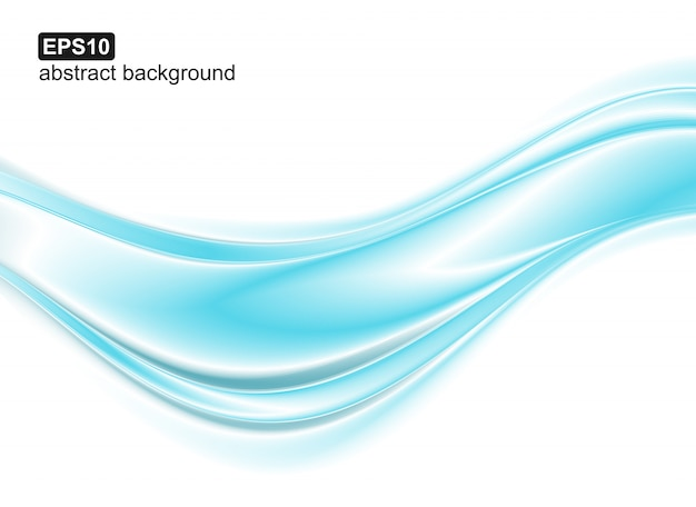 Blauwe golven op witte achtergrond.