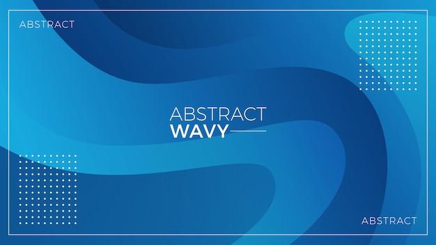 Blauwe golvende abstracte achtergrond