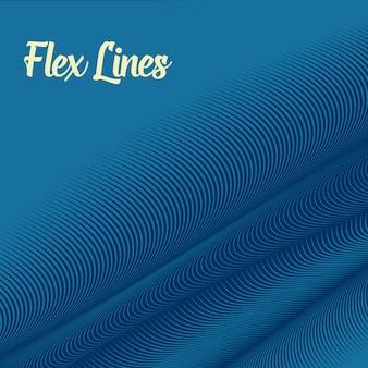 Blauwe golvende lijnenachtergrond