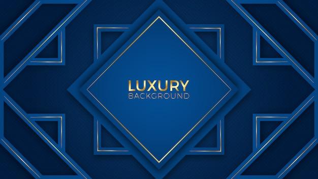 Blauwe gouden luxe achtergrond