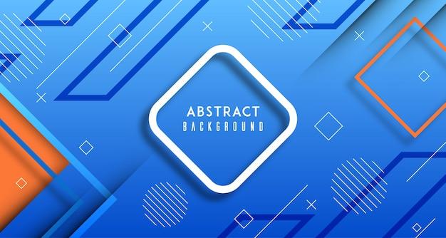 Blauwe gradiënt geometrische abstracte achtergrond