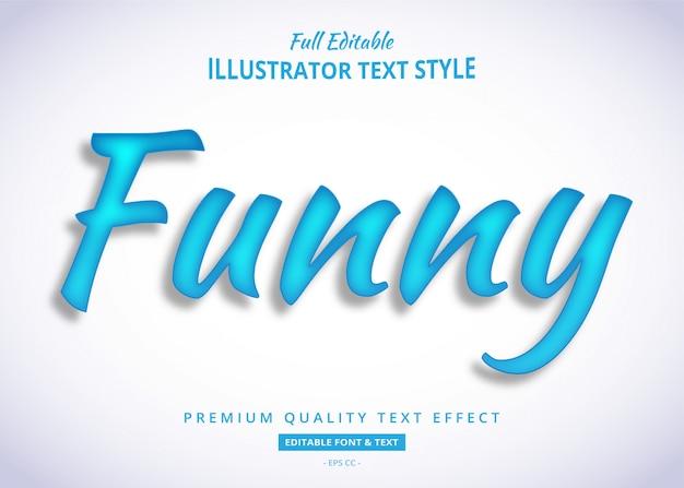 Blauwe grappige teksteffect