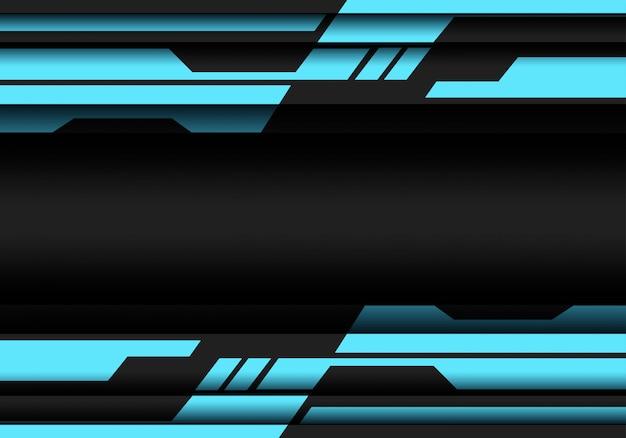 Blauwe grijze geometrische cyber futuristische achtergrond.