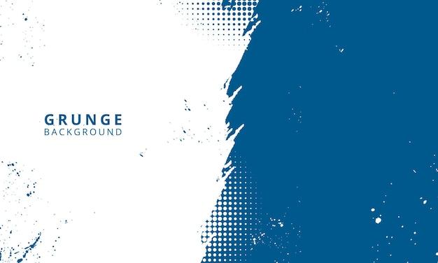 Blauwe grunge achtergrond concept voor banner behang verkoop banner en poster