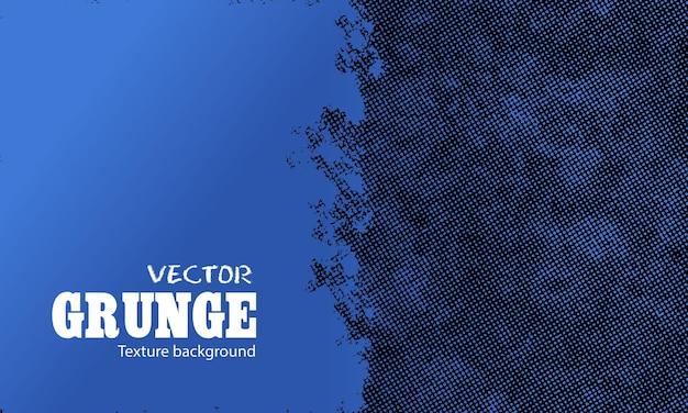 Blauwe grunge met halftone achtergrond