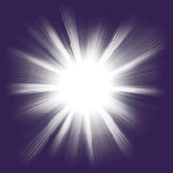 Blauwe halftone explosie. eps 8 vector-bestand opgenomen