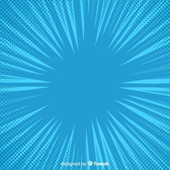 Blauwe halftone komische achtergrond