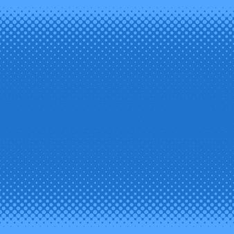 Blauwe halftone punt patroon achtergrond - vector grafisch uit cirkels in verschillende maten