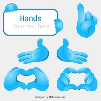 Blauwe handen