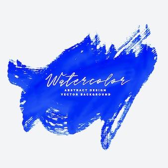 Blauwe handgeschilderde grunge abstract